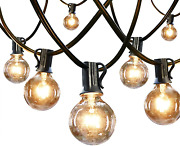 Outdoor String Lights 120ft G40 Globe Patio Lights Decor With Waterproof Hanging