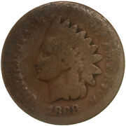 1868 Indian Head Cent About Good Penny Ag