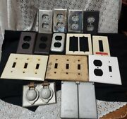 Lot 14 Vintage Metal Light Switch Wall Plate Electrical Outlet Plug Covers