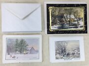 16ct Christmas Greeting Cards Currier And Ives, Ken Bucklew Unused With Envelopes