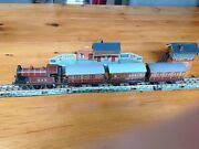 Bing Tt Table Top Railway, Lms Electric Tank Loco, 3 Coaches, Station, Cabin Exc