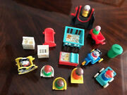Vintage Fisher Price Rare 1970s Little People + Toys + Furniture Swing Huge Lot