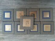 Lot 9 486 Intel Cold Vintage Ceramic Cpu For Gold Scrap Recovery Rare A2
