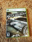 Need For Speed Most Wanted Microsoft Xbox 360, 2005 Complete W/ Users Manual