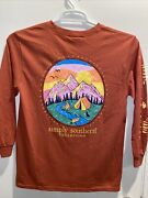 Youth Simply Southern T Shirt Size Large Long Sleeve Color Spice Mountain