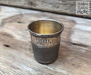 True 19th C. Victorian Antique Only A Thimble Full Sterling Silver Shot Glass