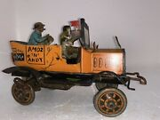 Orig. Amos N Andy Fresh Air Taxi Tin Litho Wind Up Toy Louis Marx Co 1930s Works