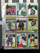1980-81 Opc Hockey Complete Set 359 Of 396 Good/ Mint+ Gretzky, Ray Bourque, Rc