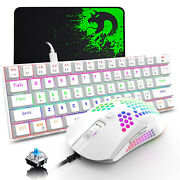 60 Mechanical Gaming Keyboard Mouse Set Type C Wired Rainbow Backlit 12000 Dpi