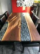 5'x2.5' Epoxy Resin Coffee Table Top Handmade Home Furniture Decor Wooden K28