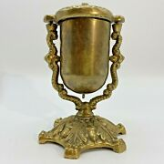 Antique Victorian Brass Acorn Match Safe Stamped Tobacciana Collectible M302