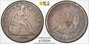 1863 1 Seated Liberty Dollar Pcgs Vg 10 Very Good To Fine Key Date Tough