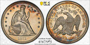1871 1 Seated Liberty Dollar Pcgs Pr 61 Proof Stunning Coin Toned