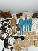 Marx Johnny And Jane West Vintage Cowboy Dolls And Accessories Lot Boxessee Pics