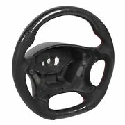 Carbon Fiber Steering Wheel Nappa Preforated Leather Fit For ‑benz E‑class W211