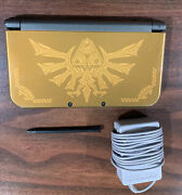 New Nintendo 3ds Xl Hyrule Edition, 32gb Sd, And Charger
