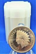 Indian Head Penny 20 1/2 Oz .999 Copper Rounds In Tube Golden State Mint