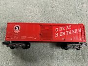 American Flyer 24047 G.n. Great Northern Boxcar Ex Scarce Red 1959 Only Knuckle