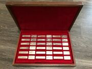 1976 Lincoln Mint - American Weapons Hall Of Fame Ingots - Sterling Silver