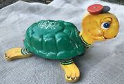 Vintage Timmy Turtle Musical Pull Toy 150 Wood Fisher Price