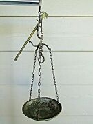 Antique Brass Hanging Balance Scale Very Early 1900and039s