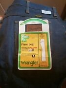 Vintage 70and039s Wrangler Slim Fit Flare Leg Bell Bottom Jeans Unworn With Tags...