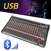 Pro Bluetooth Live Studio Audio Mixer Power 16 Channel Mix Amplifier Used