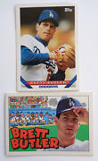 2 - Brett Butler Topps 65 Los Angeles Dodgers And Animated Stats Baseball Cards '
