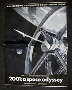 2001 A Space Odyssey Oversized Press Book For Theaters And Poster Keir Dullea