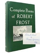 Robert Frost Complete Poems Of Robert Frost 1949 Signed 1st 1st Edition 12th Pri