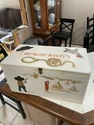 Handmade Wooden Toy Chest Cowboys And Indians Theme