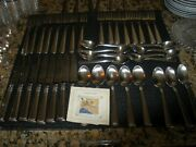Longaberger Stainless Woven Tradition 47 Pieces New Condition