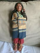 Skookum Doll Left Looking Scowler Faced W/papoose