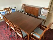 Ethan Allen Cherry American Impressions Arts And Crafts Dining Table W/ 6 Chairs