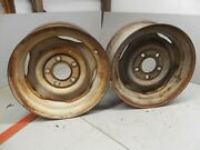 Two  15 1961 - 1964 Cadillac Wheels Rims 1962 1963 Deville Coupe Convertible