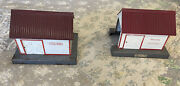 Lot Of 2 American Flyer 585 And 741 Handcar S Gauge Tool Sheds