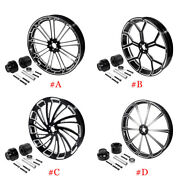 26and039and039x3.5and039and039 Front Wheel Rim Hub Single Disc Fit For Harley Touring Road King 08+