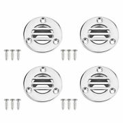 4x Floor Drain W/ Screws Stainless Steel Boat Plumbing Fitting 7/8inches