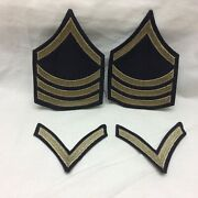 Military Patch Badge Lot 4 Army Chevron Felt Variant Sgt Pfc Tight Weave