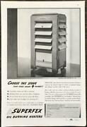 1937 Superfex Oil Burning Heaters Print Ad Perfection Stove Cleveland Oh