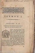 Three Sermons On The Original Sin Imputed Antique Christian Theology Book 1791