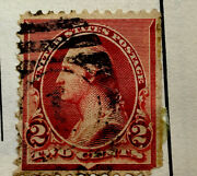 Us Postage Stamp George Washington Two Cent 2andcent Red Stamp 1902 Shield Very Rare
