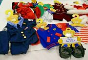 Lot New Build A Bear Clothing Outfits Sports Holidays Uniforms W/tags And Hangers