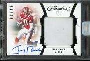 2020 Flawless Cleat Black Jerry Rice Game Used Patch Auto 3/5