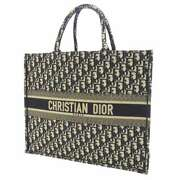Dior Ginza Six Limited Book Tote Canvas Navy/ivory