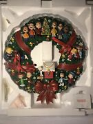 Christmas Peanuts Gang Large Wreath W/ All Characters Light-up By Danbury Mint