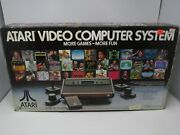Atari 2600 Model No. Cx-2600a Complete In Box Cleaned Tested Working