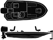 Seachoice Universal Boat Cover Color 18and039 6 X 94 Option Bass Boat