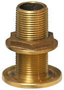 Groco Nps Npt Combo Stainless Steel Thru-hull Fitting W/nut Size 4