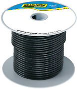 Seachoice Tinned Copper Marine Wire Color Black Size 250and039 Option 10 Awg